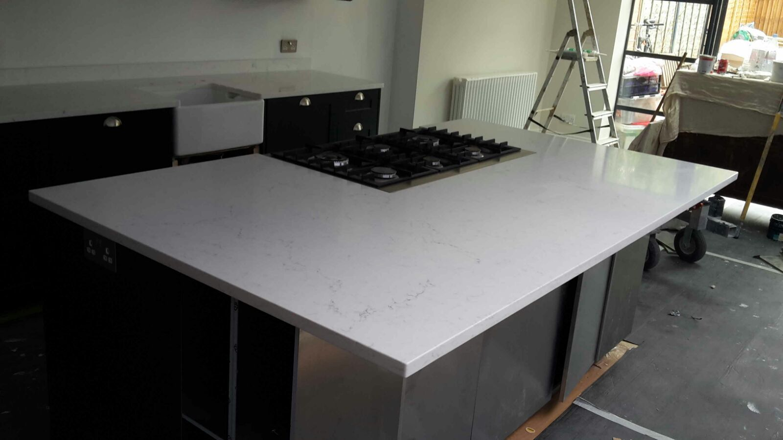 Pin By The Marble Store Stone Worktop Specialists On Unistone Carrara Misterio In
