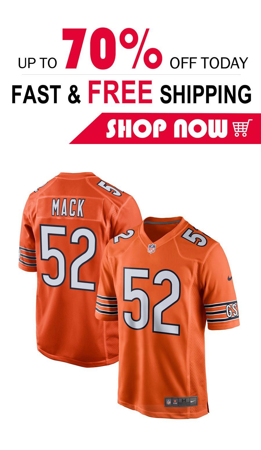 best website d81aa b2f59 Men s Chicago Bears Khalil Mack football Game jersey in 2019 ...
