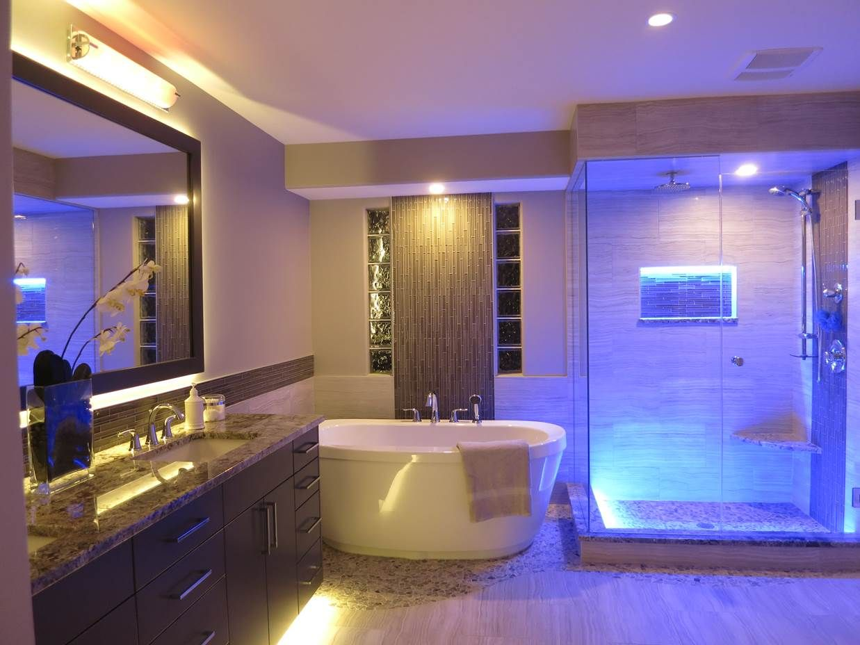 ledlighting provides beautiful accents in this bathroom renovation  - ledlighting provides beautiful accents in this bathroom renovation
