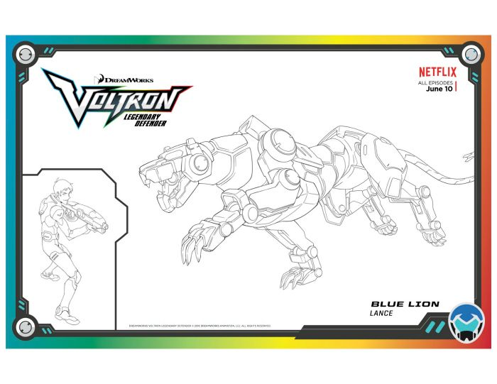 Voltron Legendary Defender Red Lion Coloring Page | Free ...
