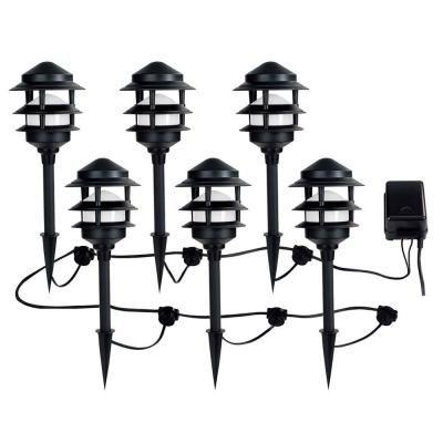 Ce Tech Low Voltage Black Audio Path Light Kit With Bluetooth Technology 6
