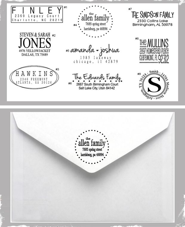 Custom Return Address Stamp Choose From 9 Designs Makes A Great Gift