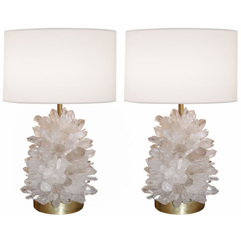 Pair Of Rock Crystal Lamps 1stdibs Com Crystal Lamp Vintage