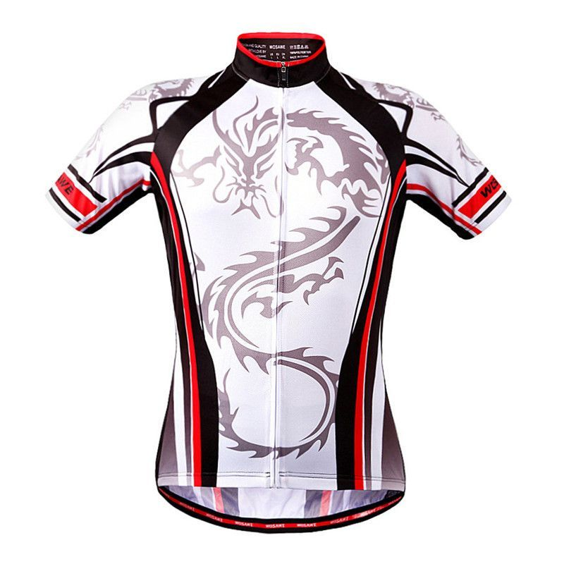 WOSAWE Men Skeleton Bone Cycling Jersey Mountain Road Bike Bicycle  Sportswear Ciclismo Short Sleeve Cycle Wear 145d11388