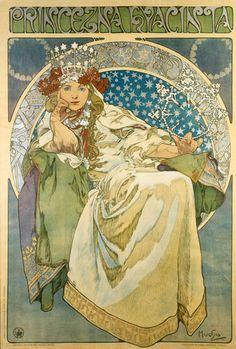 Bieres de la Meuse A4 Size Mini Poster Alphonse Mucha Art Nouveau Print
