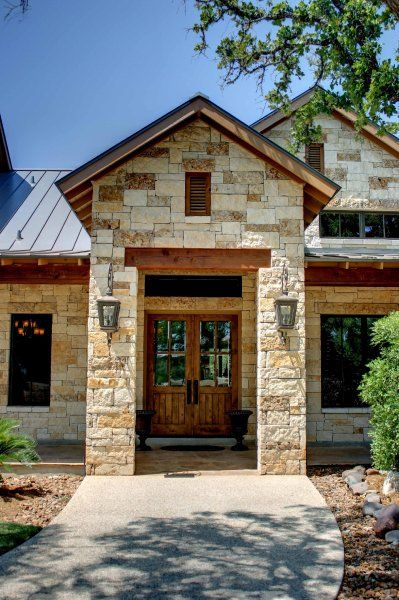 Austin Stone Entry Hill Country Homes Country Home Exteriors