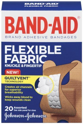 Johnson & Johnson Band-Aid, Knuckle Fingertip, 20 Count (Pack of 6) by Band-Aid. $18.20. Non-stick pad. Greater durability. wound; cut; heal; bandage; cover; band-aid. Extra flexibility. Save 33%!