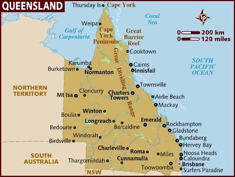 Map of Queensland Queensland 412 Pinterest Australia and