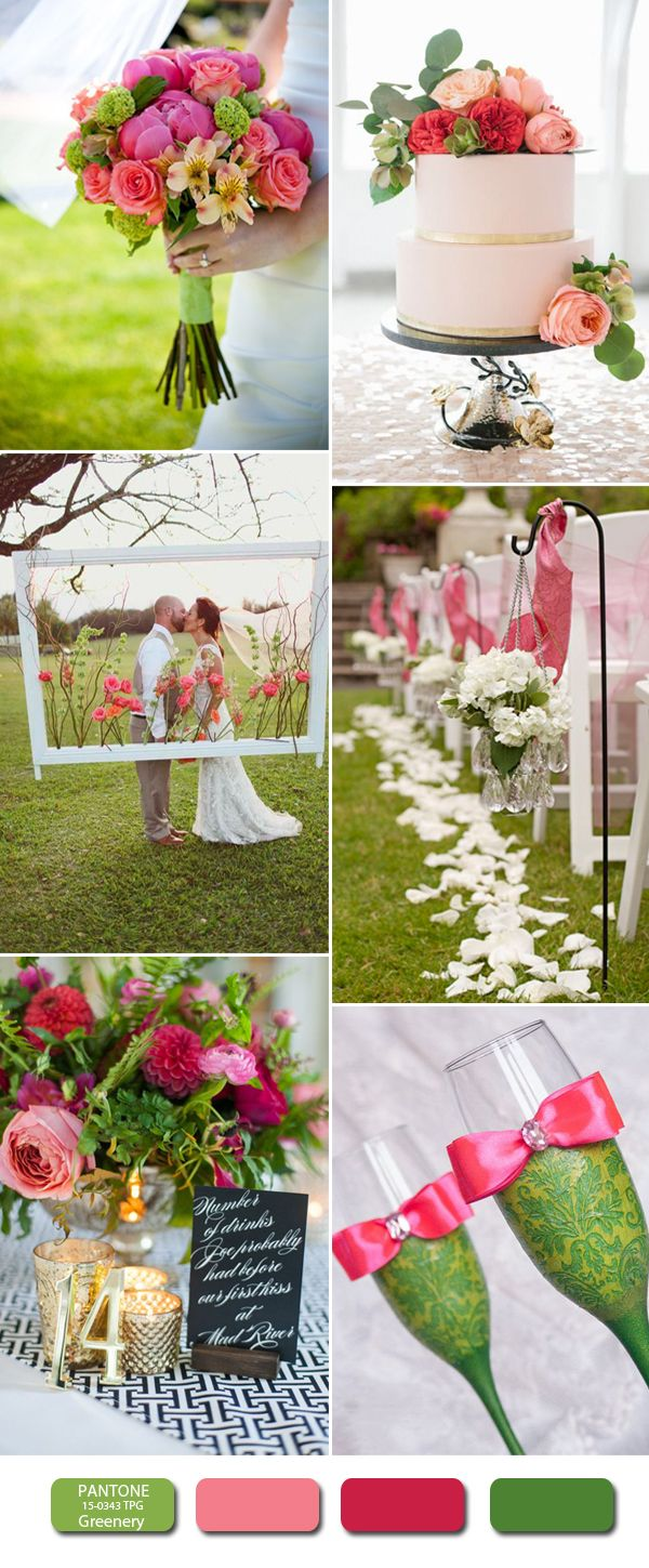 Pantone Color Of The Year Greenery Wedding Ideas Pink And For 2017