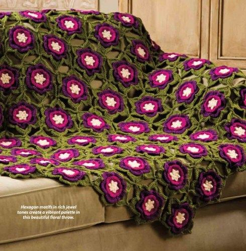 W433 crochet pattern only winter rose hexagon afghan throw pattern w433 crochet pattern only winter rose hexagon afghan throw pattern beadedbundles craft supplies on dt1010fo