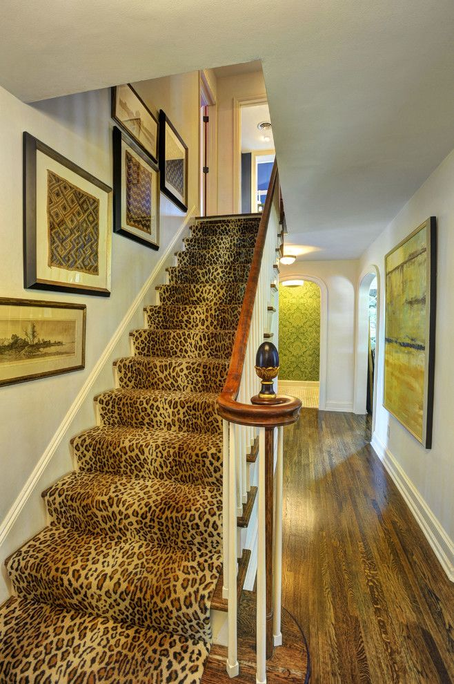 Leopard Print Stair Runner Would Make A Statement In Any Interior    Shelterness. Carpet Runners For ...