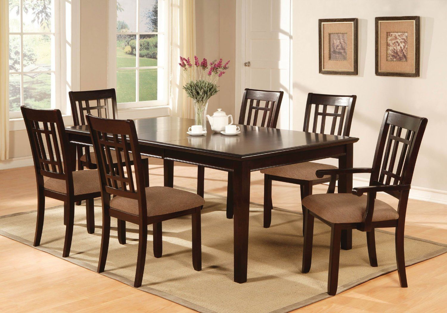 Enjoy Your Meals On The Madison 7 Piece Dining Room Furniture Set Delectable Dark Cherry Dining Room Set Review