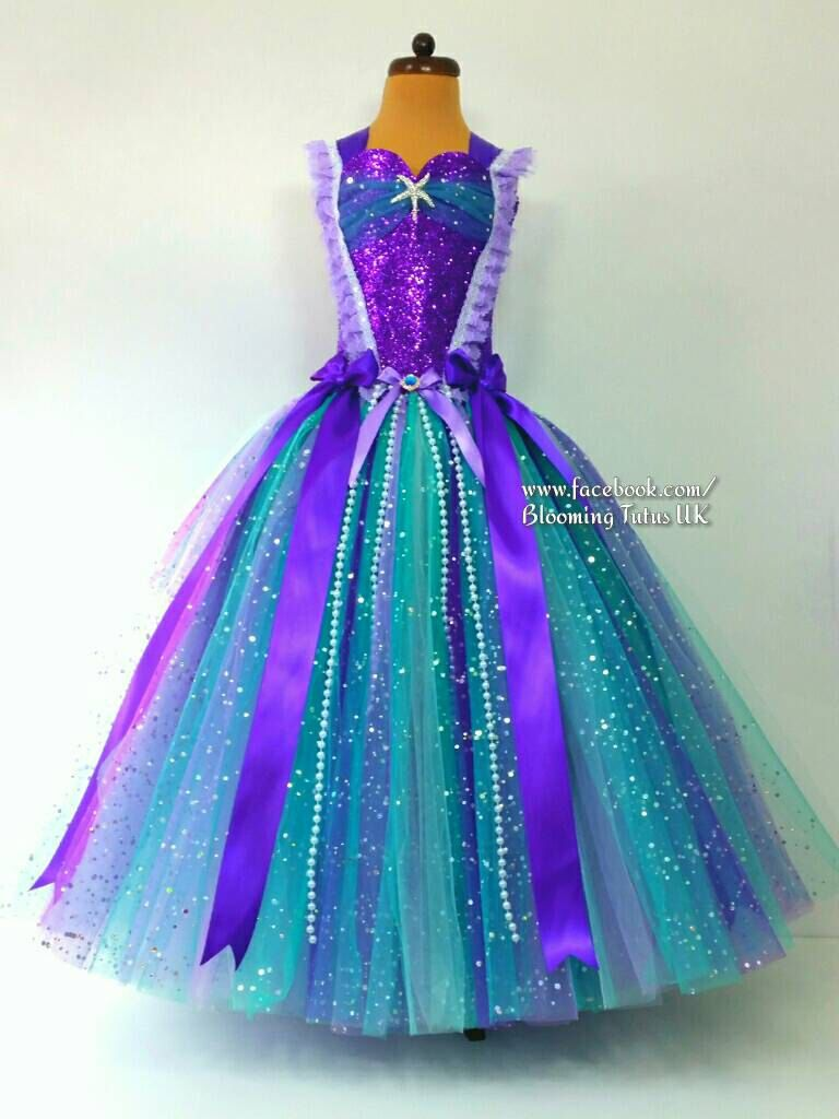 Little Mermaid Ariel Inspired Teal and Pearls Super Sparkly Tutu ...