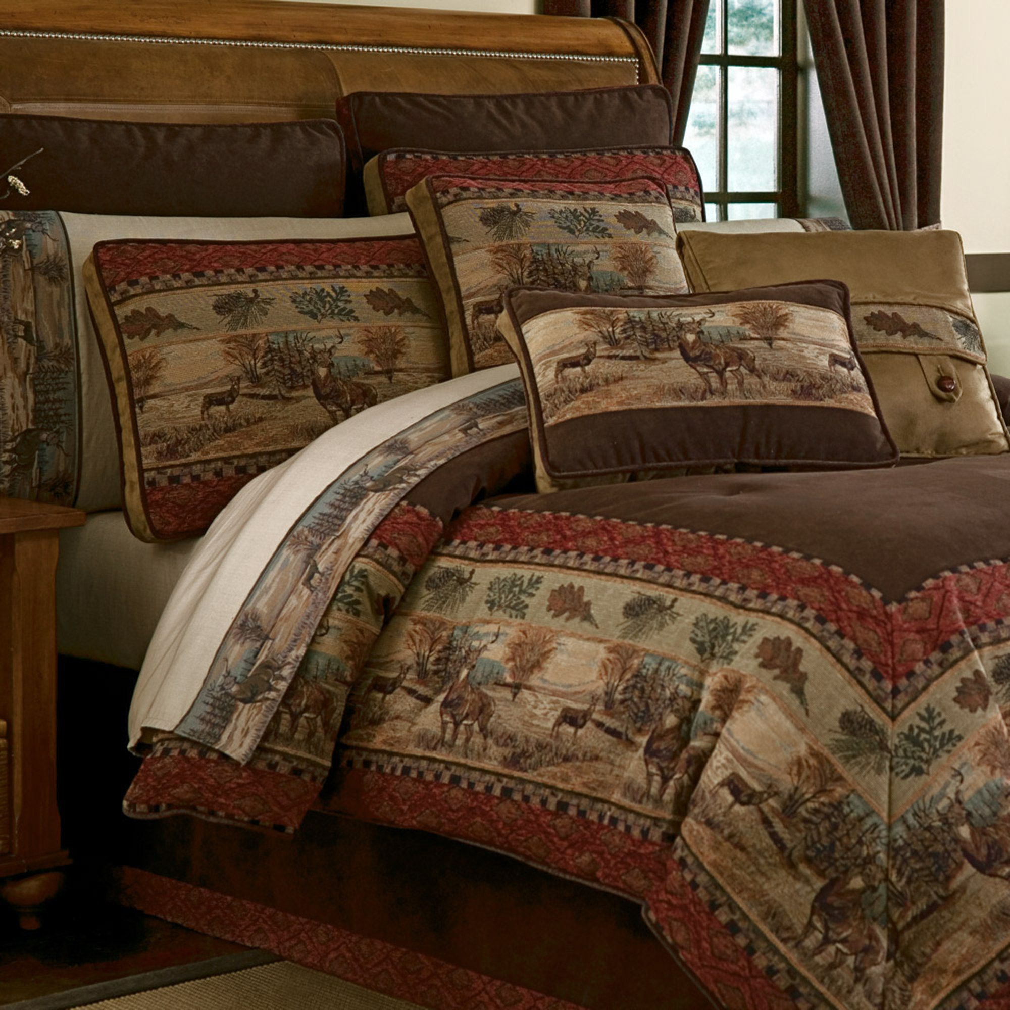 bedding cabin horse in category carstens comforters flying lodge by zoom cabins