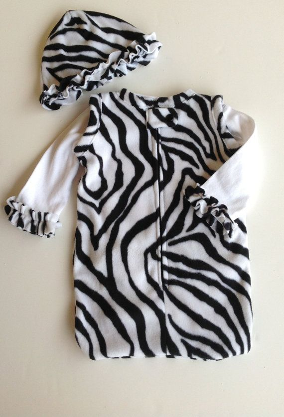 5b4ceb8478 Newborn Baby Infant Fleece Sleeper Sack Zip Up Snap by Sunjunki ...
