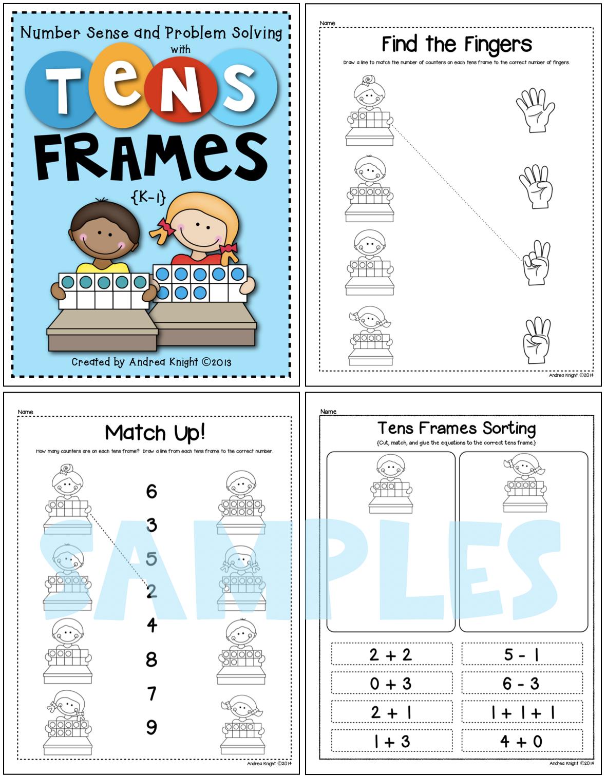 Problem Solving Using Tens Frames Math Practice