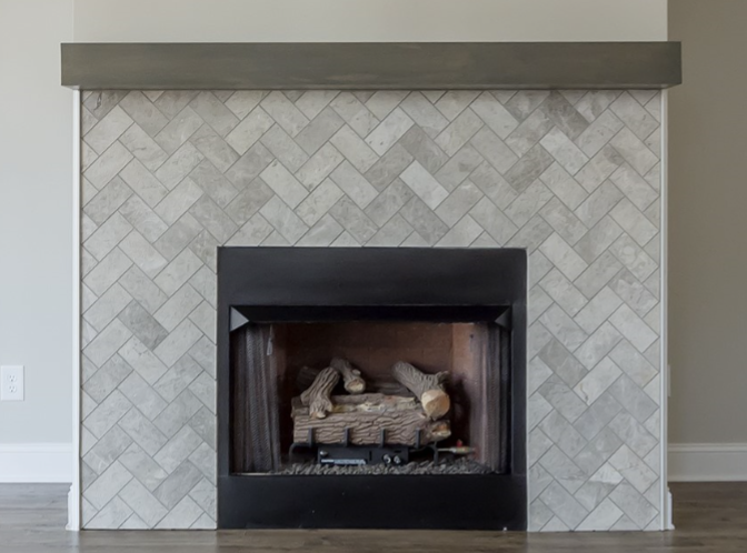 This Fireplace Surround Features Subway Tile From Daltile S
