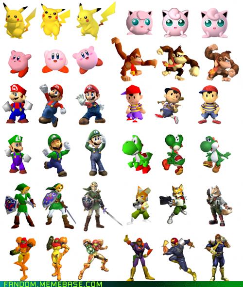 Character Evolution Super Smash Bros Super Smash Bros N64