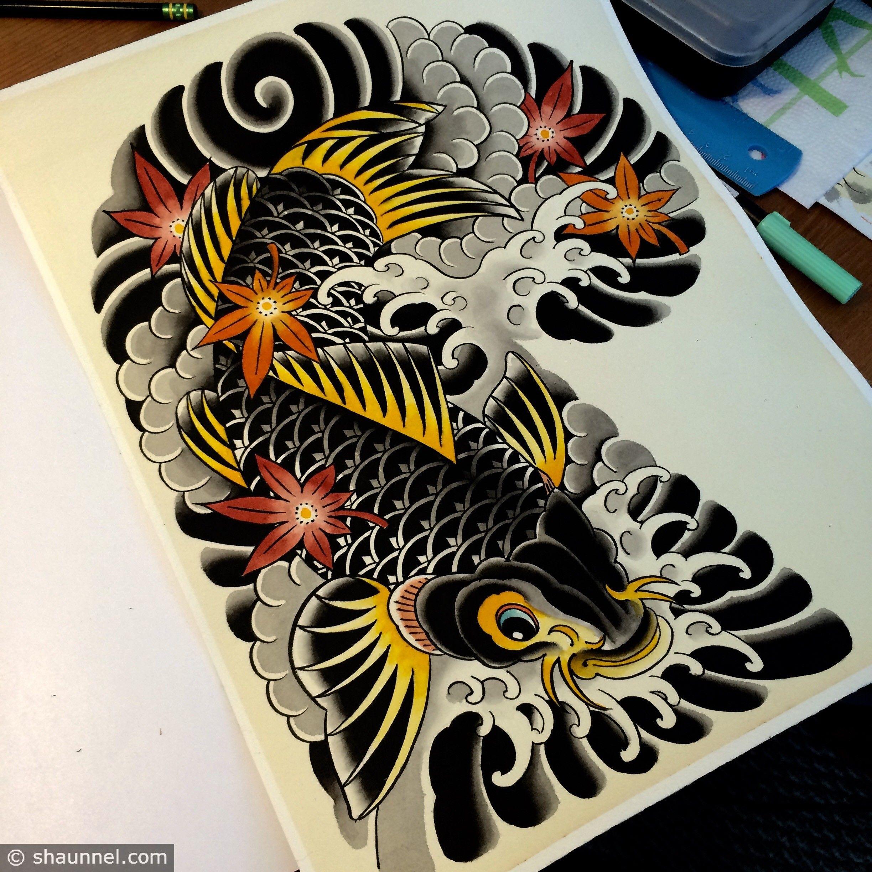 Shaun the african tattoos dragon google search for Japanese koi dragon