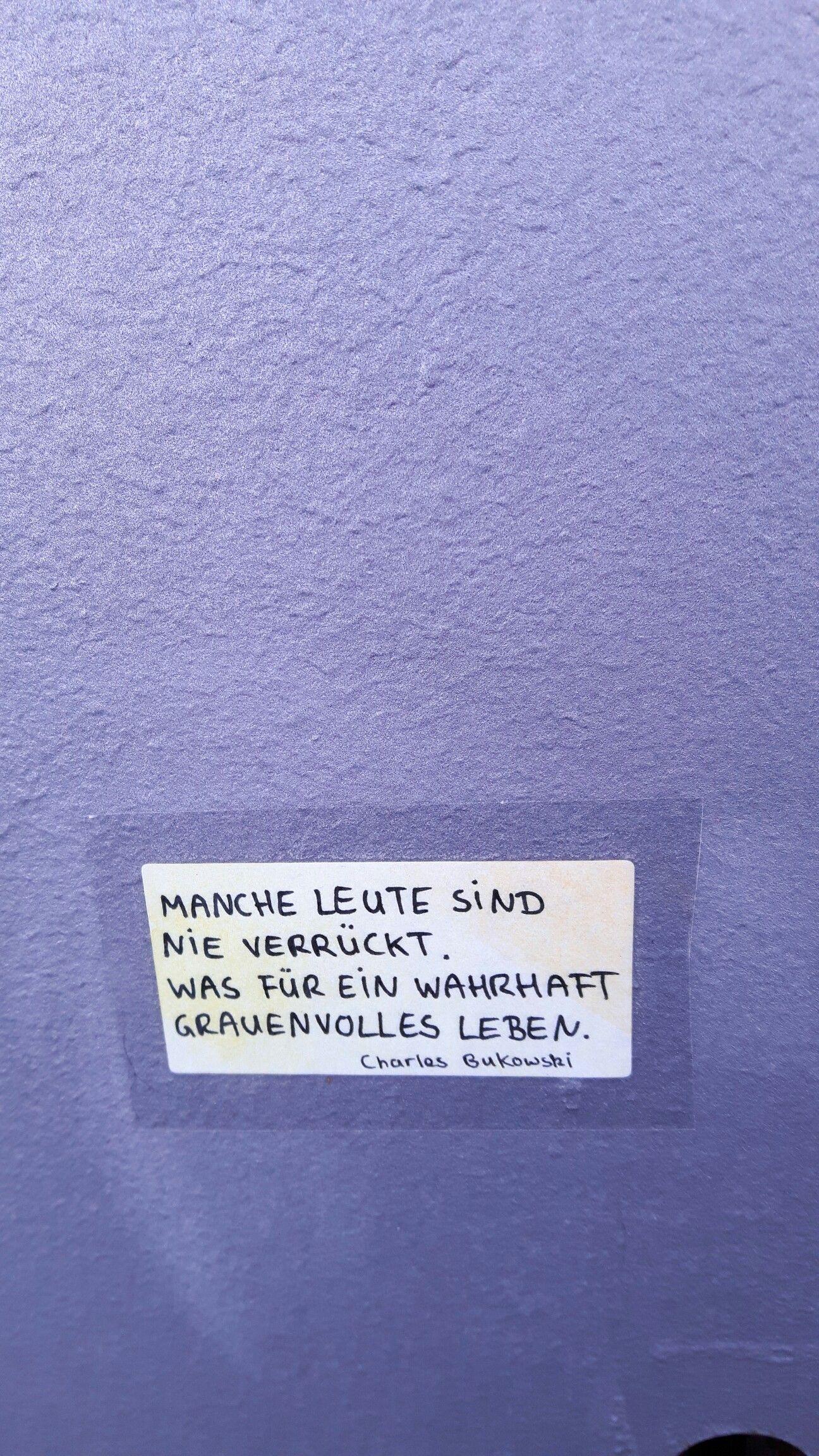 Charles Bukowski Verrückt Wahnsinn Leben Streetart Sticker