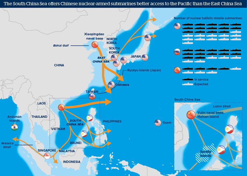 The South China Sea offers Chinese nuclear-armed submarines better ...