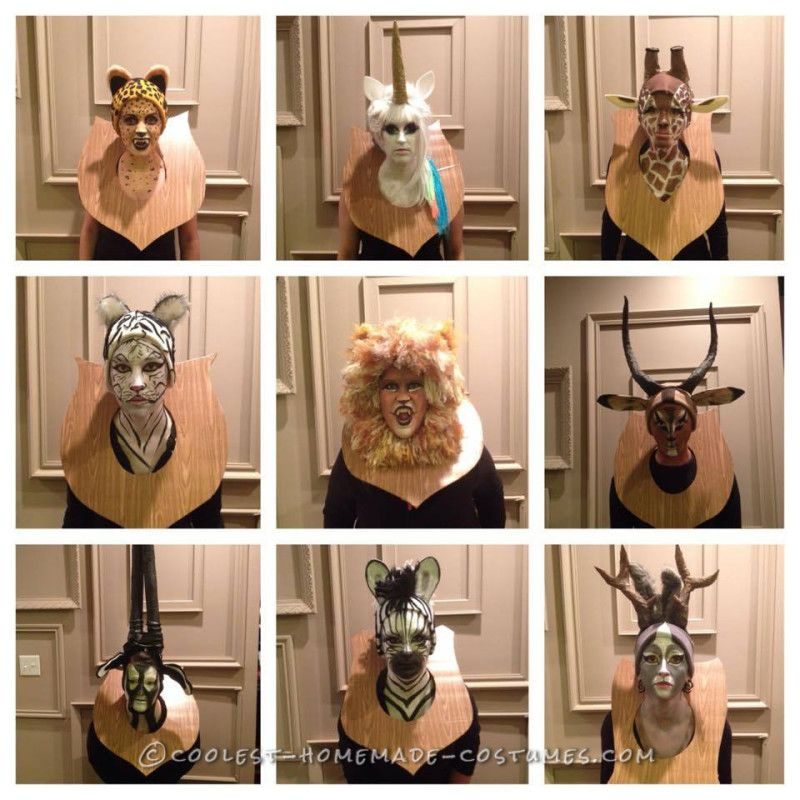 Amazing Taxidermy Animal Heads Funny Group Costume Funny Group