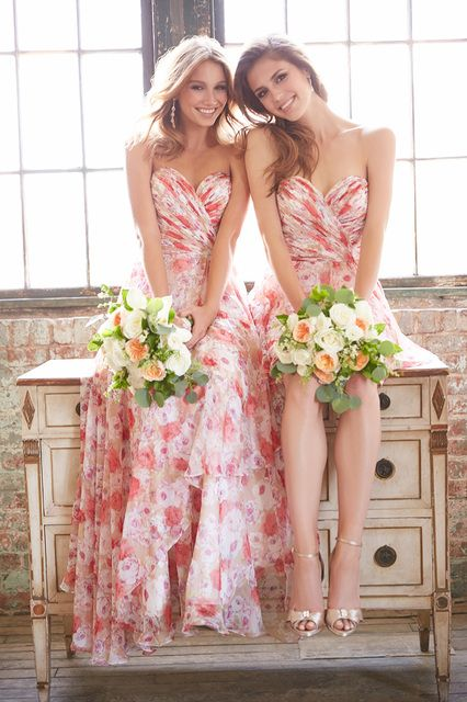 Floral Bridesmaid Dresses 2015