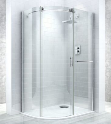 Cooke Lewis Eclipse W 1200mm Right Handed Clear Offset Quadrant Shower Enclosure Tray Pack 000 Quadrant Shower Enclosures Quadrant Shower Shower Cubicles