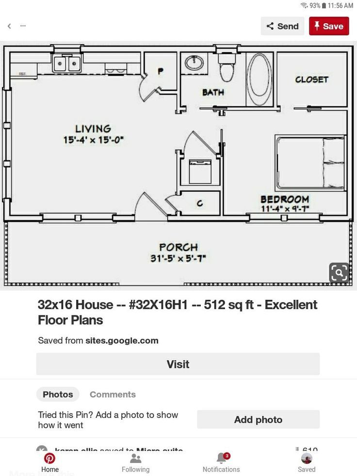 Good Floor Plan For An Old Single Non Working Dog Mom All The Square Footage Single Working Small House Floor Plans Tiny House Floor Plans Tiny House Plans