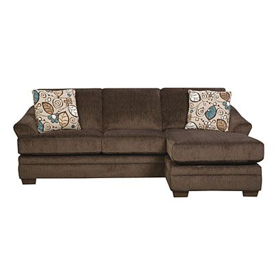 Simmons Sunflower Brown Sofa With Reversible Chaise At Big Lots