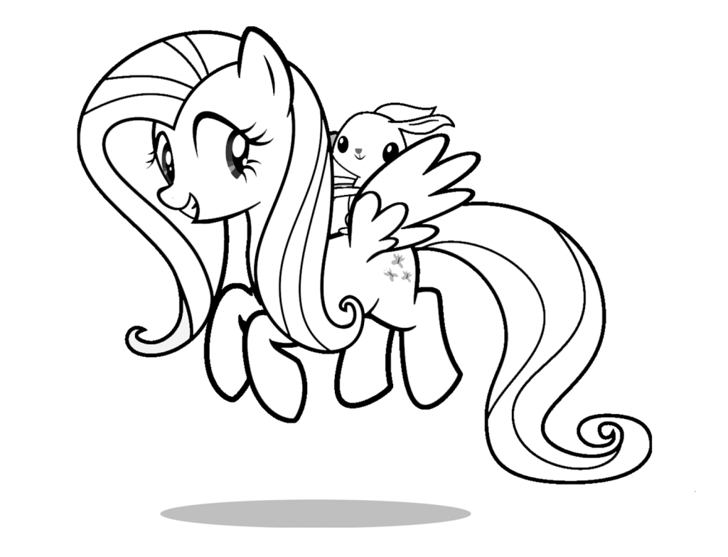 Fluttershy Coloring Pages Cartoon Coloring Pages