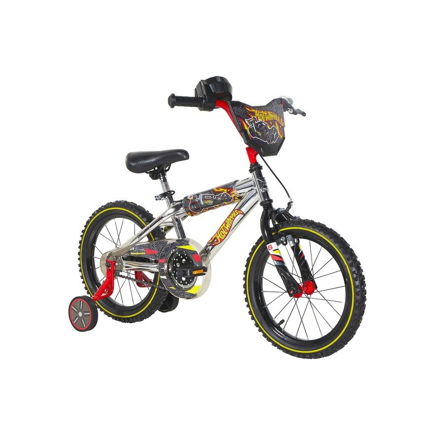 Hot Wheels 16 Inch Bike With Chrome Finish And Removable Training