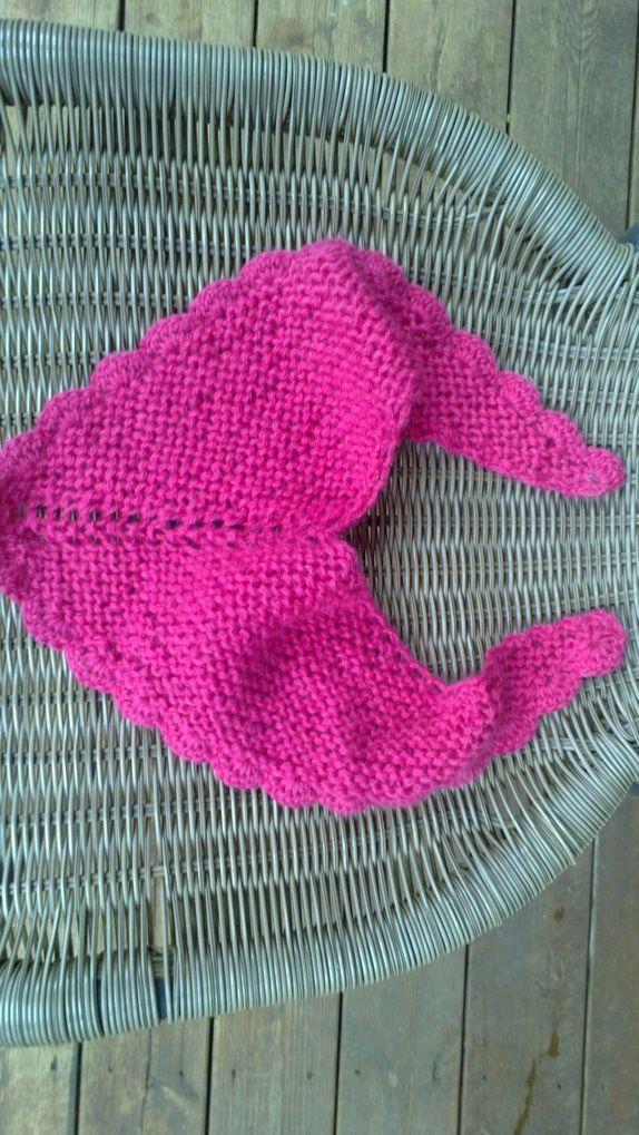 Rosa skjerf sjal i alpakkagarn til baby og barn.  4825228f99d01