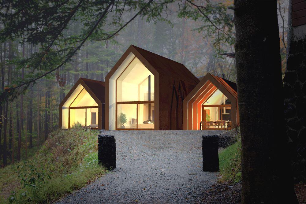 Edificio unifamiliare tecnologia costruttiva x lam for Architettura case