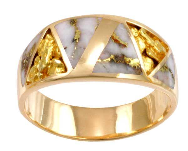 Mens Rings Gold Quartz Mens Rings Alaska Jewelry 1800360