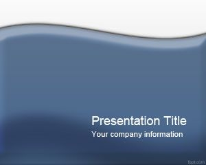 Glossy Blue Powerpoint Template Is An Abstract Powerpoint