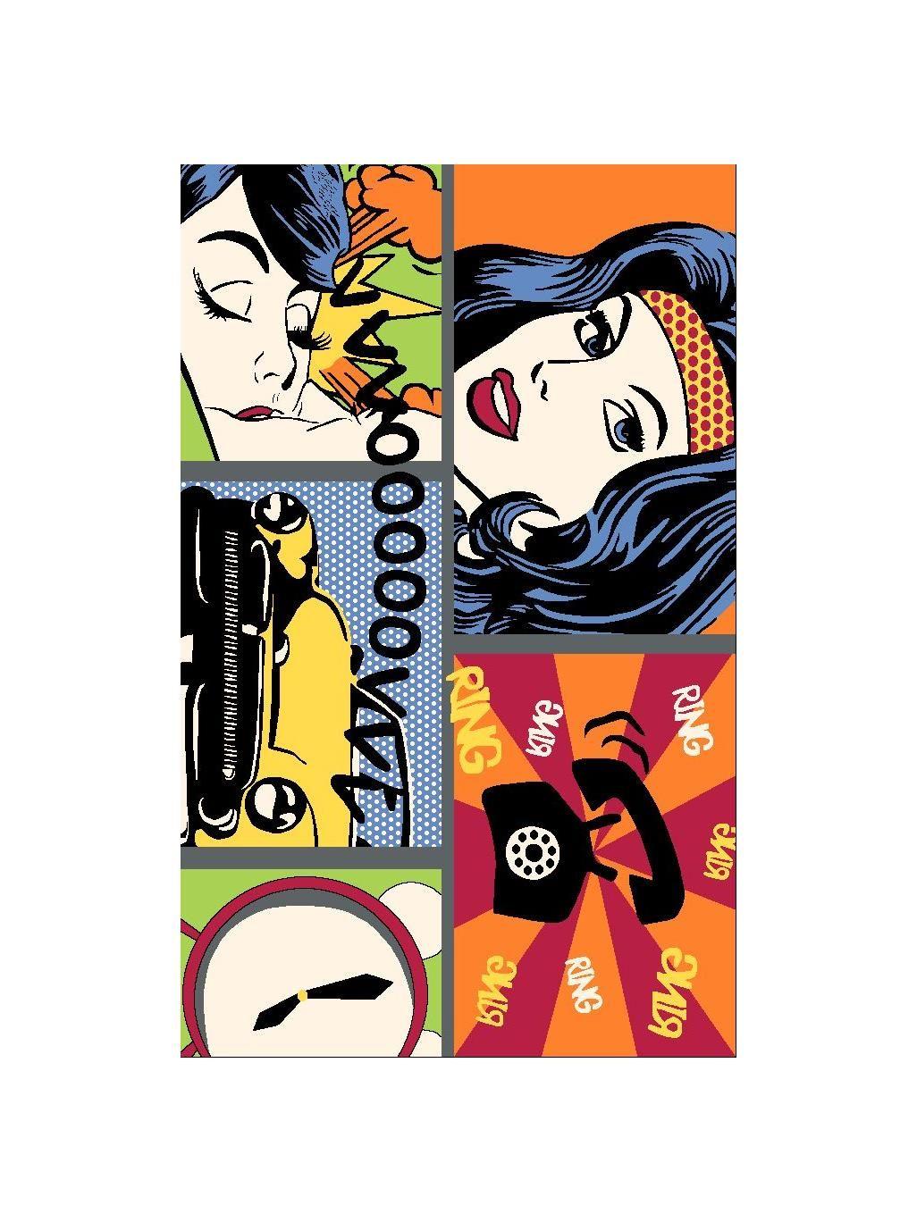 Der Coole Teppich Pop Art Retro Von Benuta Passt Mit Seinem Comic Look Hervorragend In