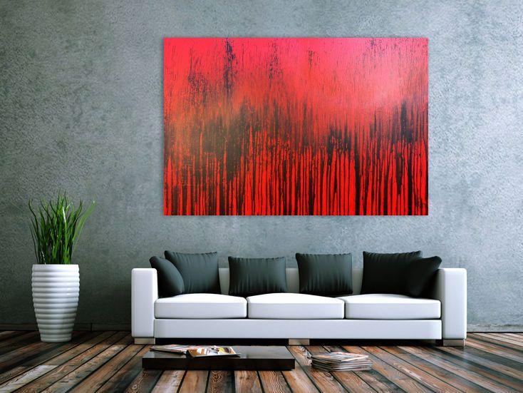 modernes acrylbild minimalistisch in rot abstrakt 110x170cm von alex zerr acrylbilder abstraktes gemalde leinwandgemalde gemälde modern abstrakte bilder acryl