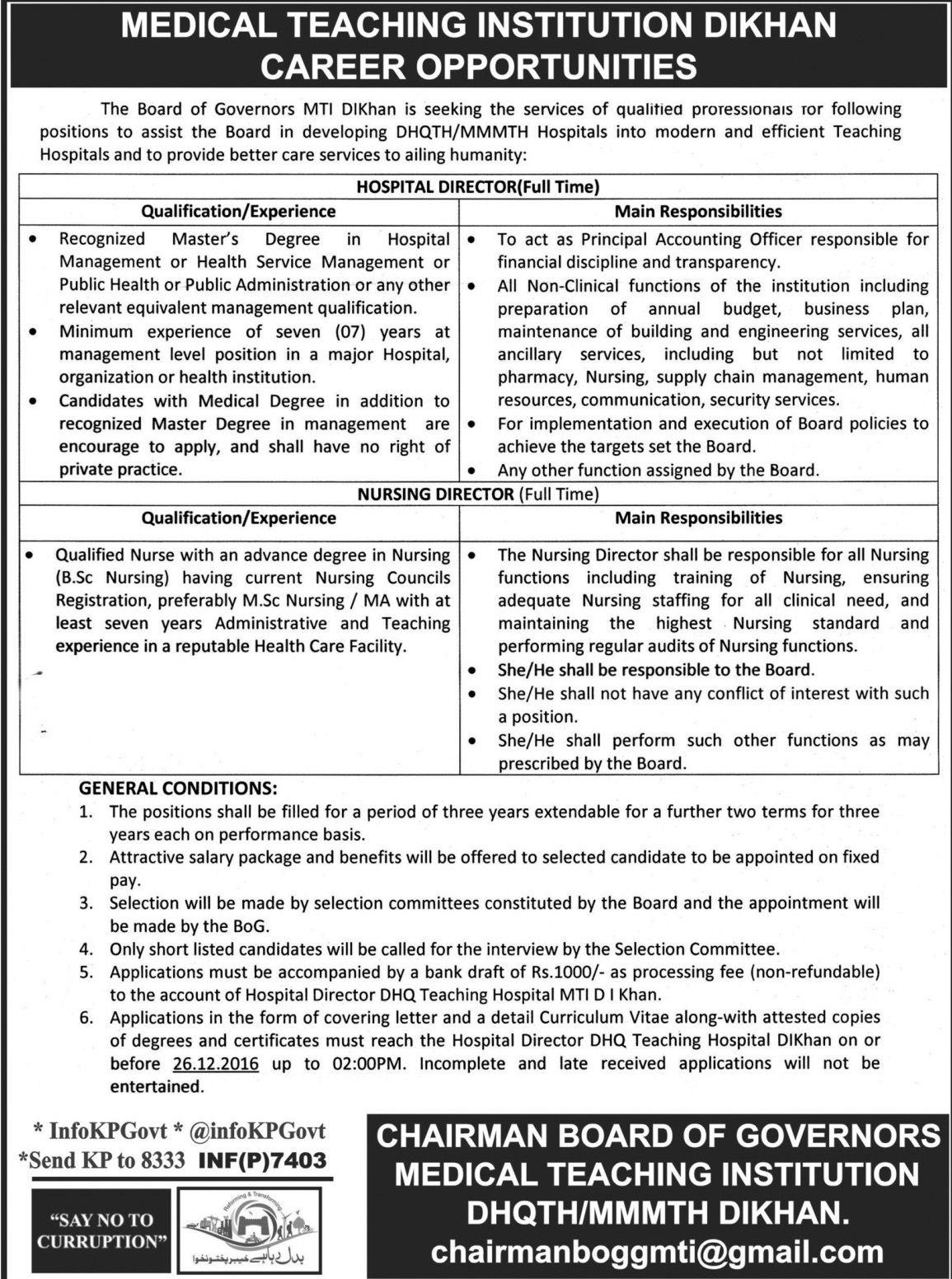 Medical Teaching Institution Dera Ismail Khan Jobs  Jobs In
