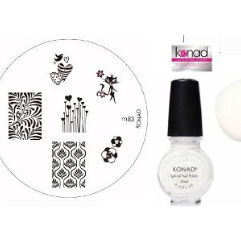 Bundle 3 Items: Konad Nail Art Manicure Stamping Kit Image Plate M83 ...