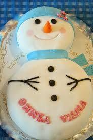 Kuvahaun tulos haulle lumiukko kakku