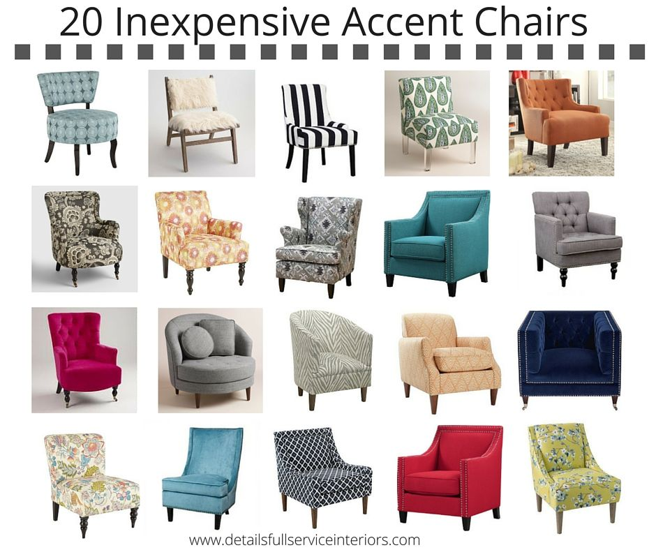 20 Inexpensive Accent Chairs To Add Some Fun To Your Home