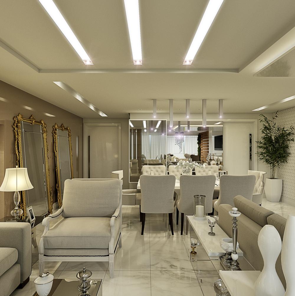 Decor Salteado Blog De Decora O E Arquitetura Apartamento Com  -> Imagens Sala De Estar Decorada