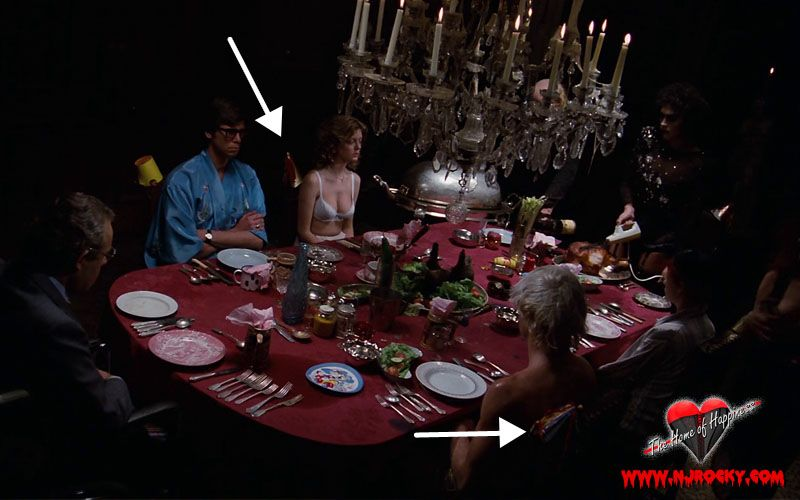 16 Authentic Reactions From Actors Because Their Directors Didn't Tell Them What Was Going To Happen The director didn't let the actors know about the corpse under the dining table in the Rocky Horror picture show.
