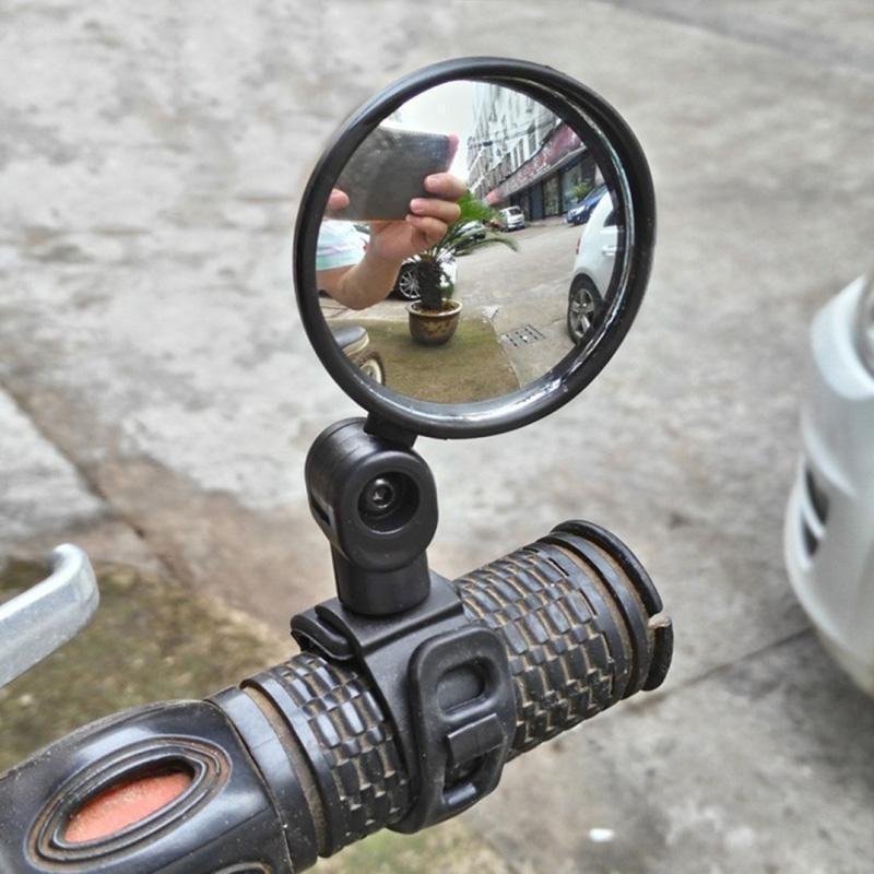 Rotatable Plane Iron Bar Bike Rearview Mirror Bicycle Looking Glass Handlebar