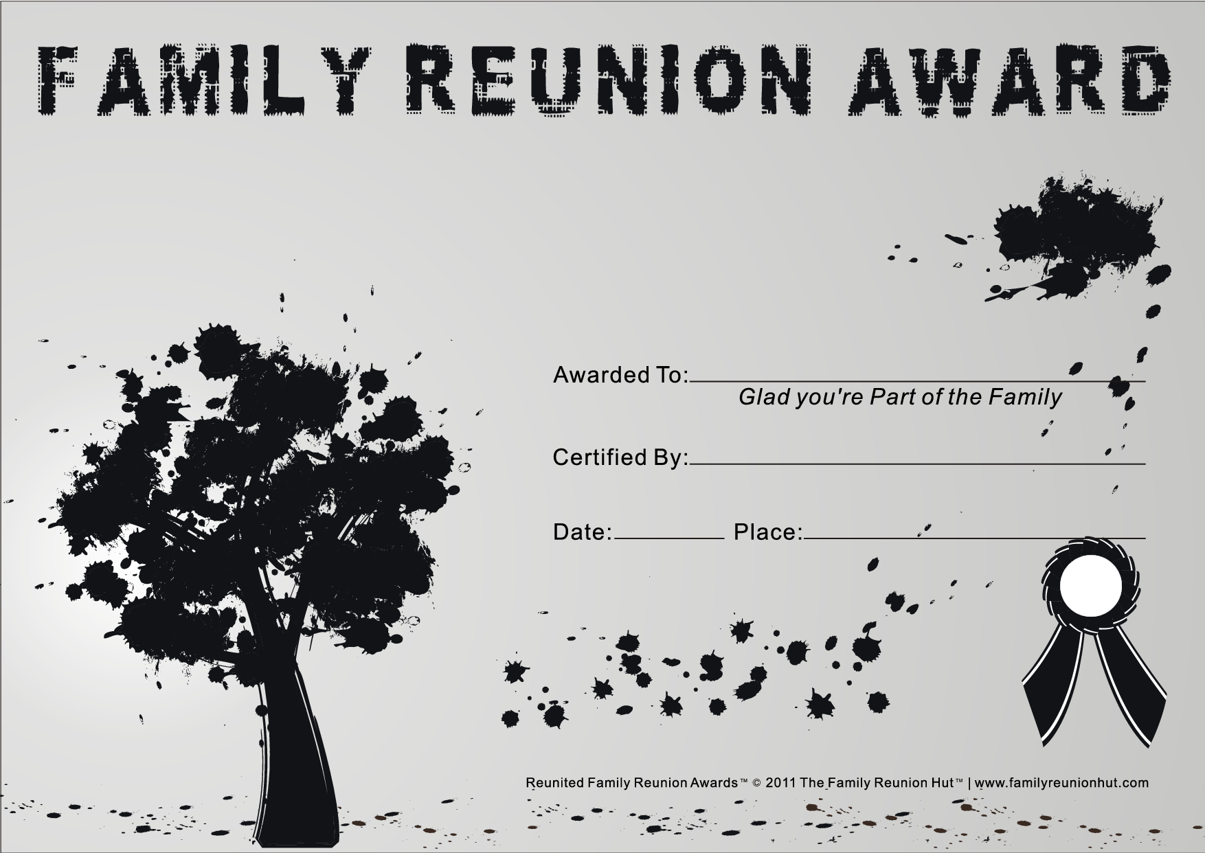 Reunion Activities Reunion Certificates Family Graffiti 26 Is A