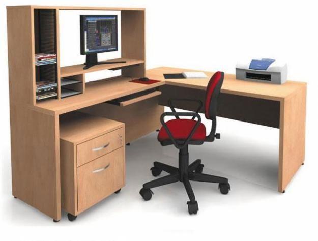 Escritorios modelo l en 3b peru hogar jard n muebles - Modelos de escritorios de madera ...