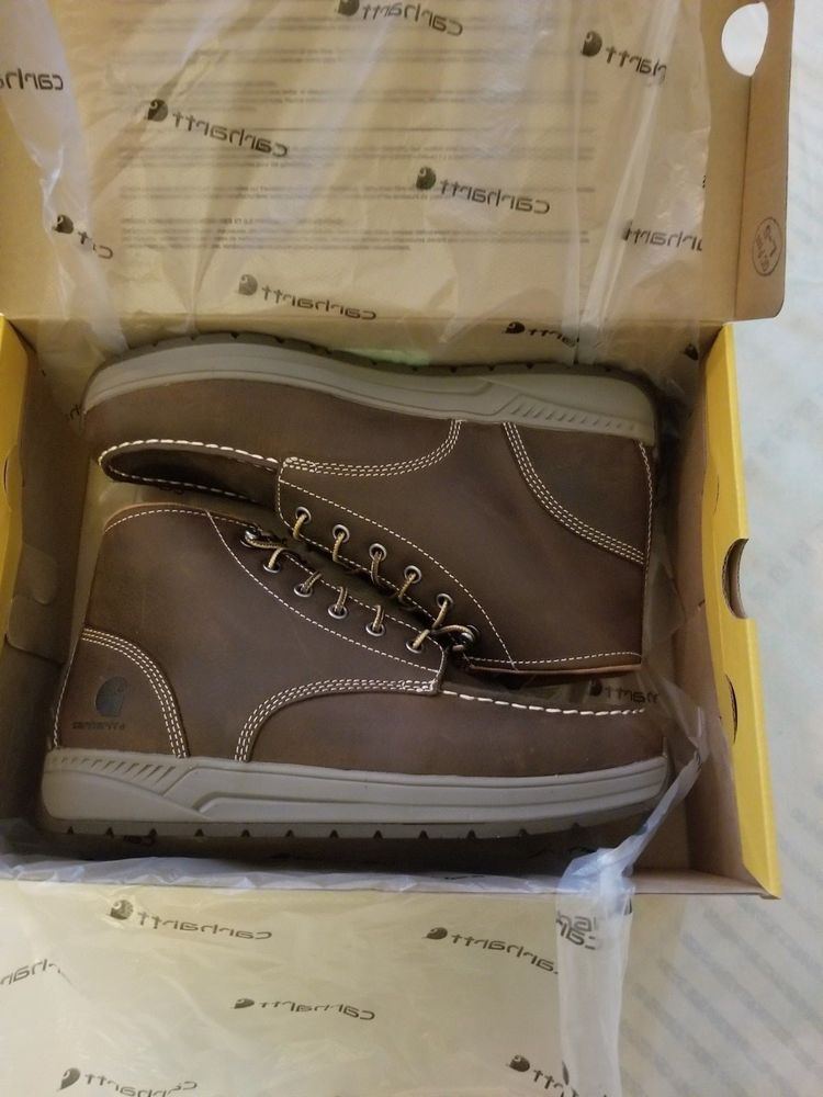 96455603bdb MEN S CARHARTT 4 INCH BROWN LIGHTWEIGHT WEDGE BOOT CMX4023 Size 10.5 M   fashion  clothing  shoes  accessories  mensshoes  boots (ebay link)