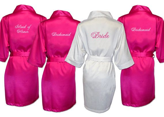 Personalized Fleece Robe, Bridesmaid Gift, Bridal Party Robe, Set of Bridesmaid  Robe, Wedding Robe, Bridal Robe, Getting Ready Dressing Gown