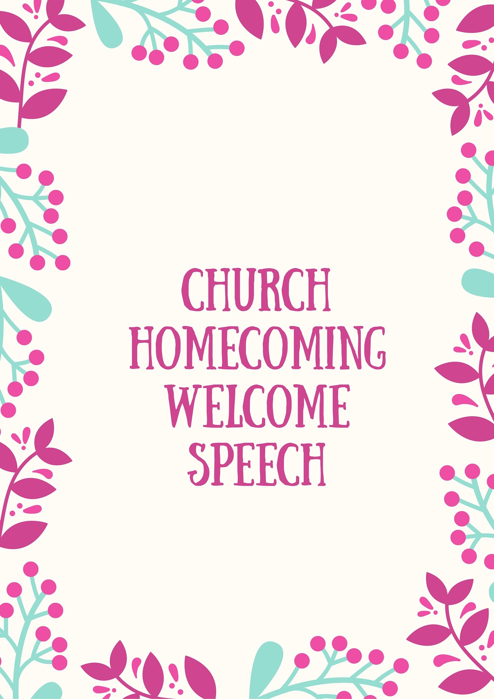 Welcome Speech For Church Anniversary Program With Images